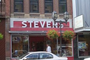 Front View of Old Stevens Hardware from Main St.